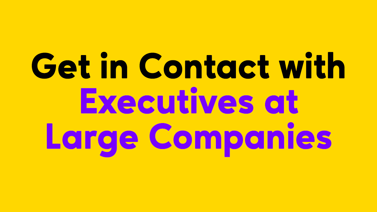 How to Get in Direct Contact with Executives or CEOs of Large Companies?